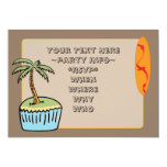 """Dessert"" Island Cupcake Party Invitations"