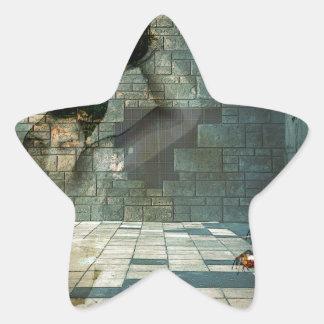 DESSERT.jpg del DIABLO Pegatina En Forma De Estrella
