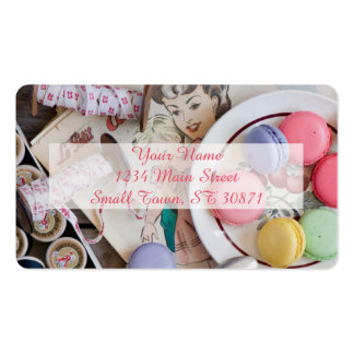 Dessert Macaron Cookies Dessert Dish Thread Double-Sided Standard Business Cards (Pack Of 100)