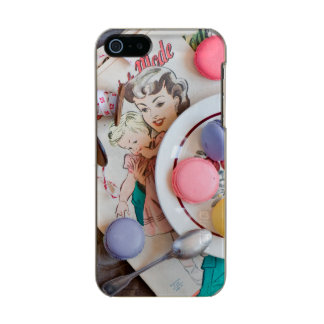 Dessert Macaron Cookies Dessert Dish Thread Metallic Phone Case For iPhone SE/5/5s