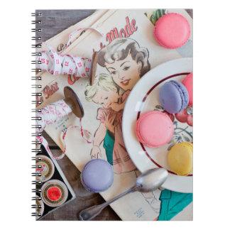 Dessert Macaron Cookies Dessert Dish Thread Notebook