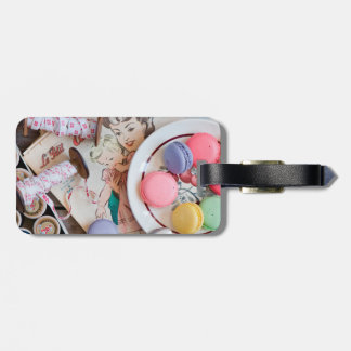 Dessert Macaron Cookies Dessert Dish Thread Tag For Luggage
