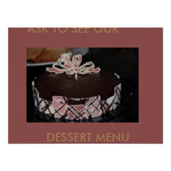 Dessert Menu Cakes Art Poster by CREATIVEforBUSINESS at Zazzle