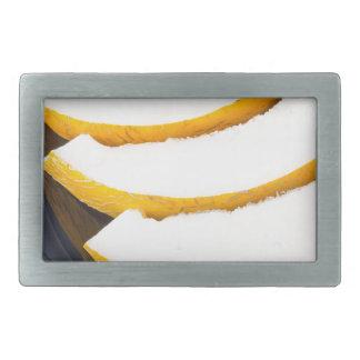 Dessert of sweet yellow melon slices belt buckle