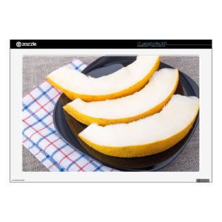 """Dessert of sweet yellow melon slices decals for 17"""" laptops"""