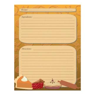 Dessert pie theme orange recipe page flyer
