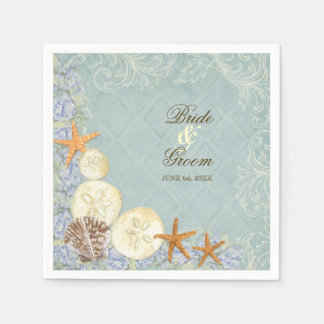 Dessert Reception Napkin Floral Cottage by the Sea