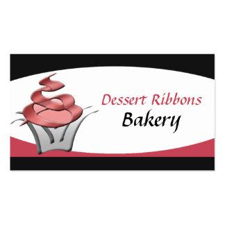 Dessert Ribbons Cupcake Bakery Business Cards