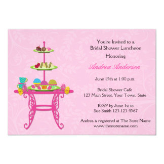 Dessert Table, Pink, Bridal Shower Invitation