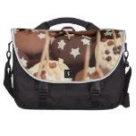 Dessert Tray with Chocolates and Sprinkles Laptop Commuter Bag