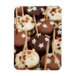 Dessert Tray with Chocolates and Sprinkles Flexible Magnets
