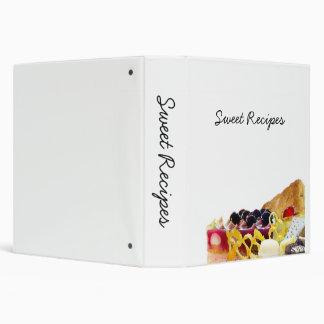 Desserts And Sweets Vinyl Binders