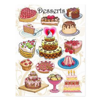 Desserts Post Card