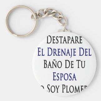 Destapare El Drenaje Del Bano De Tu Esposa Yo Soy Basic Round Button Keychain