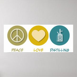 Destilación del amor de la paz impresiones