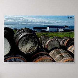 Destilería de Escocia(Bruichladdic) OriginalAtwork Posters
