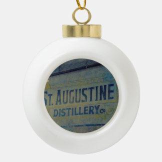 Destilería de St Augustine Adorno De Cerámica En Forma De Bola