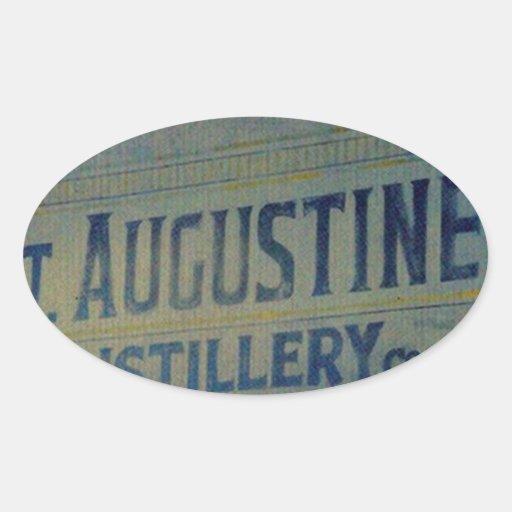 Destilería de St Augustine Calcomanía Óval Personalizadas