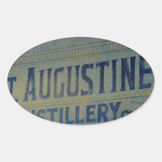 Destilería de St Augustine Pegatina Ovalada