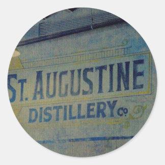 Destilería de St Augustine Pegatina Redonda