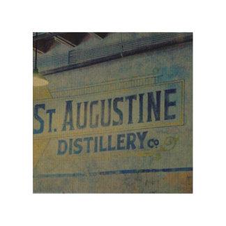 Destilería de St Augustine Cuadros De Madera