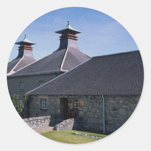 Destilería escocesa de la sola malta etiquetas redondas