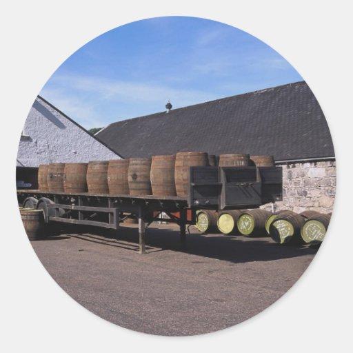 Destilería escocesa de la sola malta pegatinas