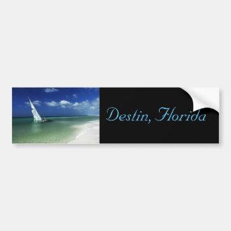 Destin, FL - Beached sailboat bumper sticker