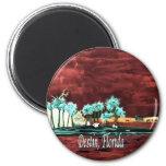 Destin Florida abstract beach FL art gifts prints Refrigerator Magnets