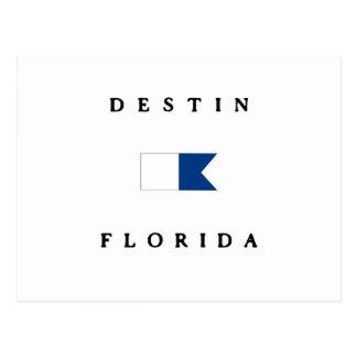Destin Florida Alpha Dive Flag Postcard