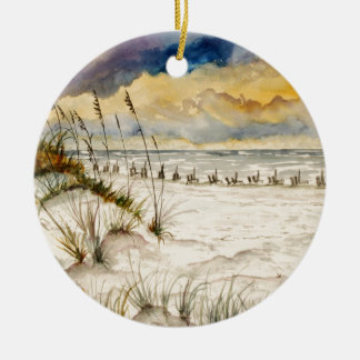 Destin Florida Beach Art Ceramic Ornament