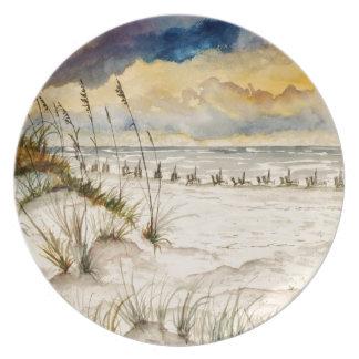 Destin Florida Beach Art Plate