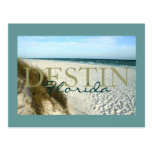 Destin, Florida beach matted postcard