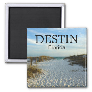 Destin Florida beach pathway sunset magnet