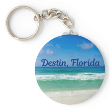 Beach Themed Destin Florida Beach Photograph Keychain