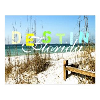 Destin, Florida - Beachfront Postcard