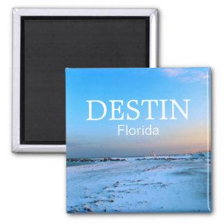 Destin Florida - Dreamy Beach Scene 2 Inch Square Magnet