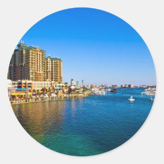 Destin Florida Harbor Beautiful Scenic Photo Classic Round Sticker