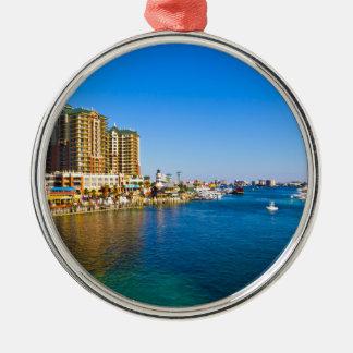 Destin Florida Harbor Beautiful Scenic Photo Metal Ornament