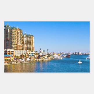 Destin Florida Harbor Beautiful Scenic Photo Rectangular Sticker
