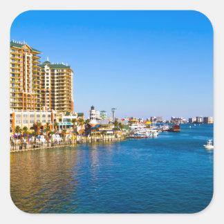 Destin Florida Harbor Beautiful Scenic Photo Square Sticker