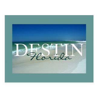 Destin, Florida matted postcard