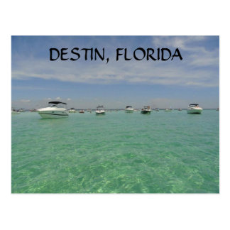 DESTIN FLORIDA NAUTICAL POSTCARD ON CRAB ISLAND