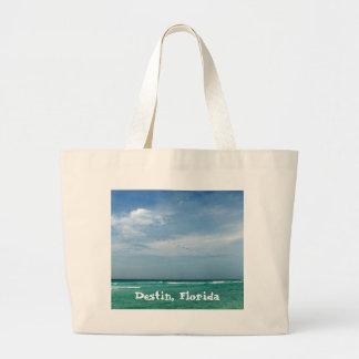 Destin, Florida Sea/Sky Design Canvas Bags