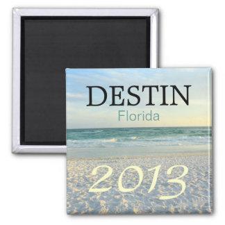 Destin Florida sugar sand beach - CUSTOMIZE YEAR 2 Inch Square Magnet