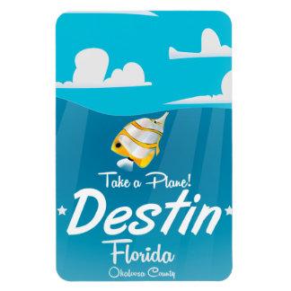 Destin Florida vintage travel poster. Rectangular Photo Magnet