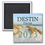 Destin Florida white sand beach - CUSTOMIZE YEAR! Magnets