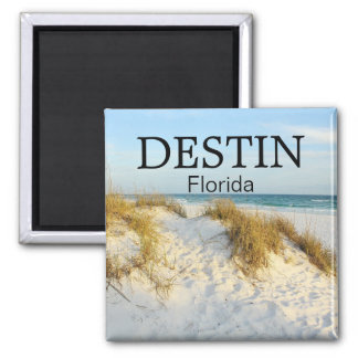 Destin Florida white sand beach sunset magnet