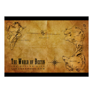Destin Map Poster