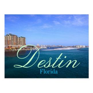 Destin, puerto de la bahía de la Florida Tarjetas Postales